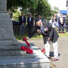 RBL Branch Chairman, Bob Blackmore, lays a second wreath on behalf of the Royal British Legion | Photo by Peter Hill