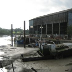 The 'wet' dock as it was until cleared in the mid 2000s as part of the re-development of the Shipyard site | Photo by Peter Hill