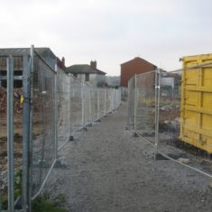 Cooks Shipyard under construction around 2005. This was a public footpath through the middle of the site which had to be kept open. | Photo by Peter Hill