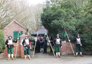 The Colchester Town Watch provided a guard of honour for the occasion | Photo by Frances Belsham
