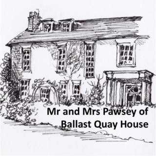 Home of Mr and Mrs Pawsey | Drawing by Vicky Rosenthal