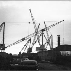 The cranes at Cook's Shipyard, there until the shipyard was cleared in the 1990s | Not known