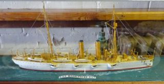 The model of the USS Marblehead made by Eric Dyke | Photo by Peter Hill