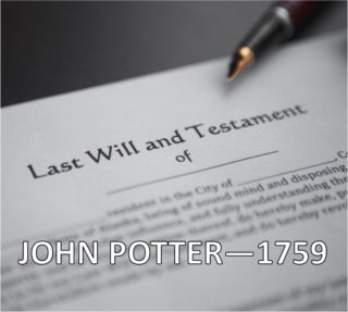 John Potter- 1759 | Designed by Vicky Rosenthal