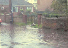 Flooding on Queens Road 2008