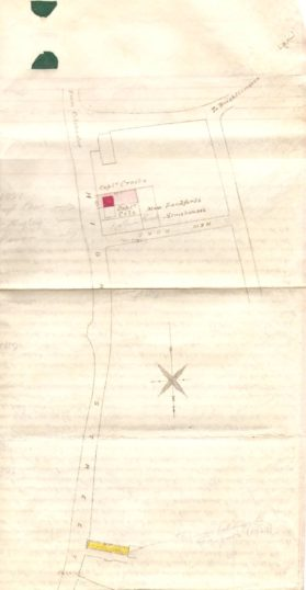 Plan attached to the 1879 Deed of Conveyance between Elizabeth Eade and her Mortgagees and John Stuck Barnes