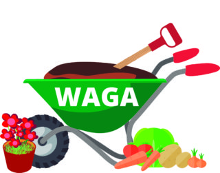 The logo for WAGA designed by Ron Williams in 2017