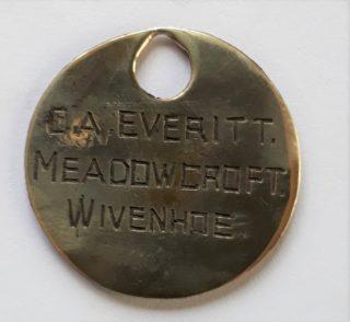 C A Everitt Identity tag | Sue Kerr