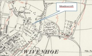 Location of Meadowcroft, Rectory Hill | National Library of Scotland