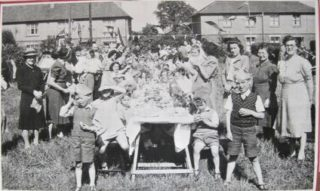 VE Day Street Party on Rectory Hill 8 May 1945 | Nottage Institute