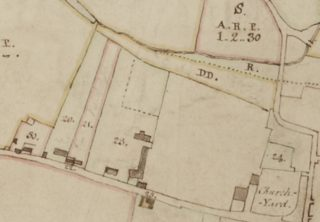 Extract from the 1799 Survey Map of Wivenhoe showing Parcel No 23 known as Bures and Cross Keys | From the original map held at Essex Record Office