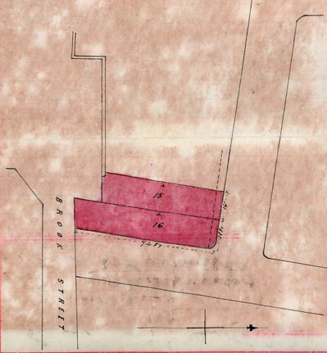 Plan attached to Conveyance of lots 15 and 16 (later Hamilton Rd) dated  14 March 1893 | By courtesy of the owner