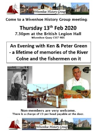 Next WHG Meeting - An Evening with the Greens - Thursday 13th February 2020