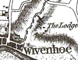 Extract from the Chapman and Andre Map of 1777 showing buildings to the south of the church on what would later be called East Street