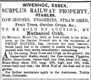 The Havens Family of East Donyland and Wivenhoe (1692-1924) | 14th March 1864 Essex Standard