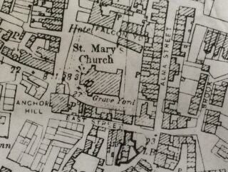 Ordnance Survey Mao of 1897 showing East Street at that time after the building of Alma Street