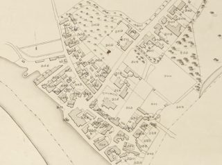 Extract from 1838 Tithe Award Map showing parcels 300, 312, 313, 324, and 327 owned or occupied by Philip Havens | Essex Record Office D/CT 406B