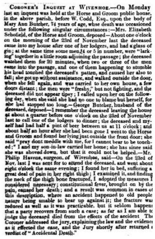 The Havens Family of East Donyland and Wivenhoe (1692-1924) | 9th January 1849 Essex Standard