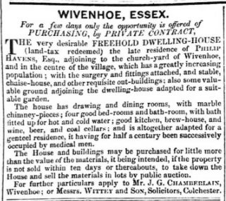 The Havens Family of East Donyland and Wivenhoe (1692-1924) | 15th May 1857 Essex Standard