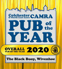 The Black Buoy community pub won the Colchester & East Essex CAMRA Overall Pub of the Year Award in 2020 | Black Buoy website