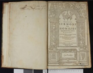 The title page to Thomas Cawton's Homilies | © Lincoln College, Oxford, 2020. L.3.9 title-page