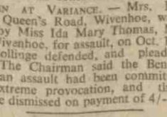 Women at Variance - charged with assault! 1937