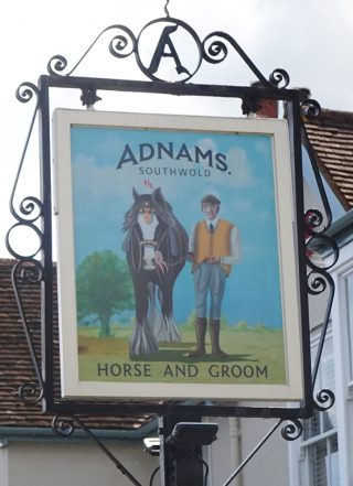 The sign for The Horse and Groom at Wivenhoe Cross in 2020 | Peter Hill