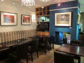 Interior of Jardines restaurant and wine bar