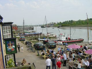 Outside The Rose and Crown on a nice summer's day   Peter Hill (photo taken in 2005)