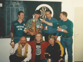 The Winning Darts Team at The Park Hotel 1980