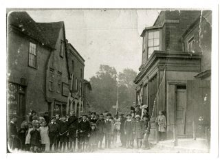 Bottom of the High Street between the former pub, The Bull, and the delicatessen. | Photo: Wivenhoe Memories Collection