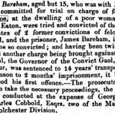 Transportation for Felony 1831 | Essex Standard, Saturday, 3 December 1831 [British Newspaper Archive]