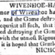 Trespass at Wivenhoe Hall 1763
