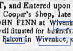John Fenn, Cooper's Shop 1780