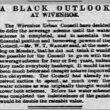 A Black Outlook at Wivenhoe 1902