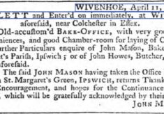 John Mason, Bake-Office to Let 1765