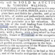 Farm, nearly Opposite the Flag, and Other Property to be Sold 1795