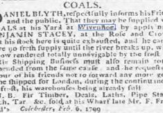 Suspension of Business and Supply of Coal due to Frost 1799