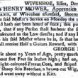 George Ireland (Shoe-maker)'s Missing Apprentice - Henry Mower 1762