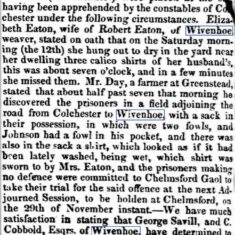 Transportation for Felony 1831 | Essex Standard, Saturday, 19 November, 1831 [British Newspaper Archive]