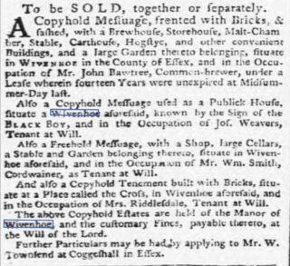 The Wivenhoe Maltings 1734-1879 | Ipswich Journal, Saturday 27 February 1773