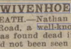 Death of Nathan Giders, Well Known Pedlar of Paget Road 1933