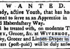 John Munsey, Grocer, Linen Draper, Haberdasher 1762