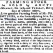 Sale of Farming Stock of Mr. Frank Smythies 1789