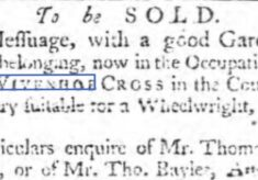 Wheelwright's Shop at Wivenhoe Cross 1758