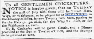 Report in the Ipswich Journal of 18th June 1772   © British Newspaper Archive