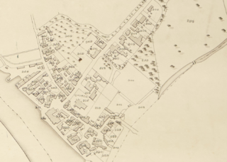 Extract from the Tythe map of 1838