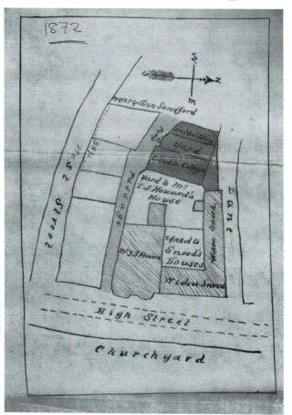 Map of Blythe's Lane 1872