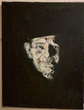 A painting of Charlie Gunn by Tony Young, painted in the 1960s