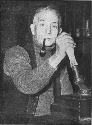 George Hillyard, landlord of The Shipwrights for 44 years | Photo: Essex County Standard 1955